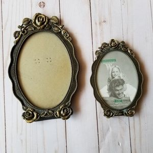 Other - Rose picture frames 3 total small medium large